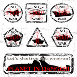 No War!. Set of stamps on a theme - No War Royalty Free Stock Images