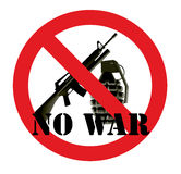 No war. Illustration of a sign against the war Stock Photo