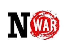 No War banner. Stock Photos