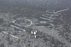 No war chalk drawing Stock Photography