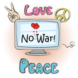 No war, hippie elements Royalty Free Stock Photography