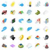 No war icons set, isometric style Stock Photos