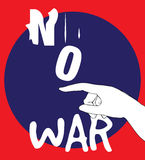 No War Poster Design. AI 10 supported Stock Images