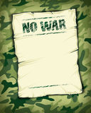 No war poster empty Stock Image