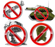 No war. set of signs. vector illustration Royalty Free Stock Photos