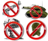 No war. set of signs. vector illustration Royalty Free Stock Photos
