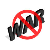 No war sign icon in isometric 3d style Stock Images
