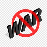 No war sign isometric icon. 3d on a transparent background vector illustration Royalty Free Stock Photography