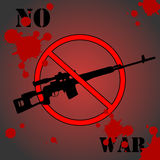No war. Sign urging to stop the war. Vector illustration Royalty Free Stock Photo