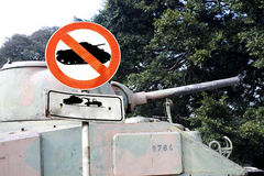 No war signal 1. No war signal isolated and with clipping path royalty free stock images