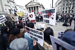 No war In Syria protestation in London Stock Photography
