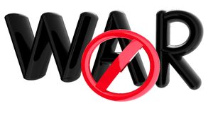 No war text and sign Royalty Free Stock Images
