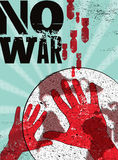 No war. Typographic retro grunge peace poster. Vector illustration. Royalty Free Stock Image