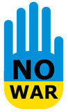 No war in Ukraine. Colors of the flag of Ukraine. Royalty Free Stock Images