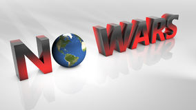 No wars in 3D illustration royalty free stock images