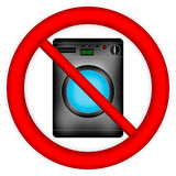 No washing machine sign Royalty Free Stock Photos