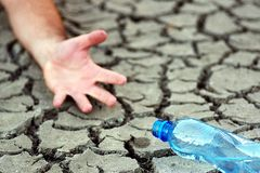 No water. What happens when the water depletes Stock Photos