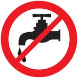 No water tap symbol. No water tap sign, no water tap symbol vector illustration Royalty Free Stock Photography