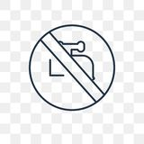 No water vector icon isolated on transparent background, linear royalty free illustration