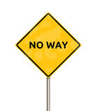 No way - sign Royalty Free Stock Photography