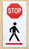 No way, stop sign with schematic black man Stock Photography