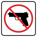 No weapon sign.No gun symbol stock illustration