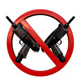 No weapons 3D sign. This is 3D render of No weapons sign Stock Images