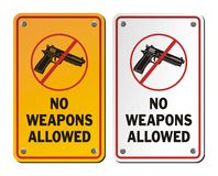 No weapons allowed - notice signs Royalty Free Stock Image