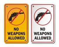 No weapons allowed - revolver icons Royalty Free Stock Photos
