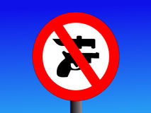 No weapons signs Stock Image