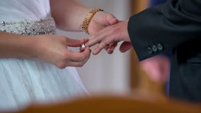No wedding without wedding rings stock video footage