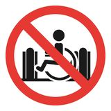 No wheelchair escalator icon, simple style stock illustration
