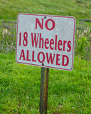 No 18 wheelers Royalty Free Stock Photo