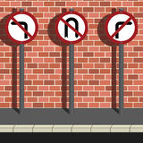 No Where to Go. Three road signs portraying no where to go message Royalty Free Stock Photo