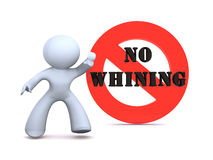 No whining Stock Photography