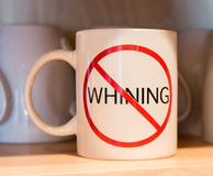 No whining Stock Image