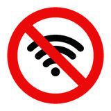 No Wifi sign. Isolated on white background Stock Images