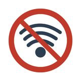 No Wifi sign on white background. Vector illustration Royalty Free Stock Photography