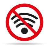 No Wifi sign on white background. Vector illustration Royalty Free Stock Image