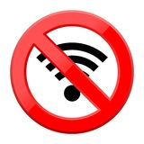 No Wifi Sign - Wi-fi symbol. Wireless Network icon Stock Photo