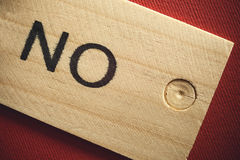 No on Wood Royalty Free Stock Image