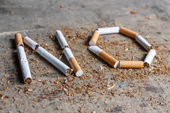 No word of a cigarette Royalty Free Stock Images