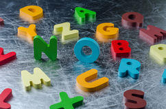 NO word with colourful alphabet made of wooden. Business Idea co Royalty Free Stock Photography