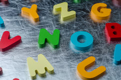 NO word with colourful alphabet made of wooden. Business Idea co Royalty Free Stock Photo