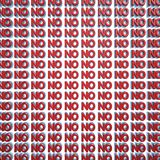 No 3d text wall Stock Images