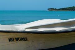No Worry – Boat at the Beach of Arugam Bay. No Worry – Boat at the Beach of Arugam Bay, Sri Lanka Stock Images