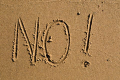 No written in the sand Stock Image