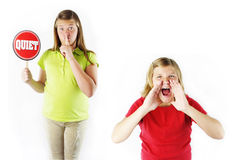 No Yelling! Stock Images