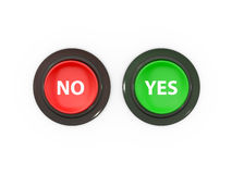 No and Yes Buttons Stock Image
