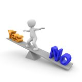 No or Yes Royalty Free Stock Photos